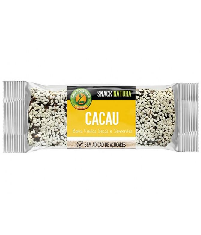 Cem Porcento Barra Cacao Frutos Secos 40gr T