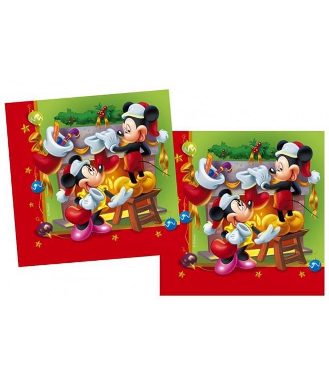 Guardanapos de Papel Mickey Christmas 33cm