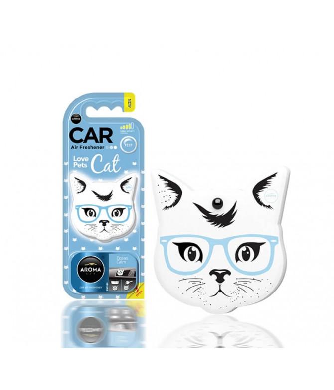 Aroma Car Ambientador Auto Cat Ocean Calm 1un