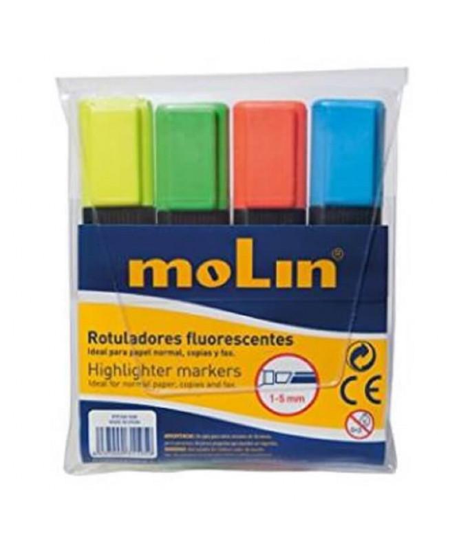 Molin Rotulador Fluorescente Sortido 2un