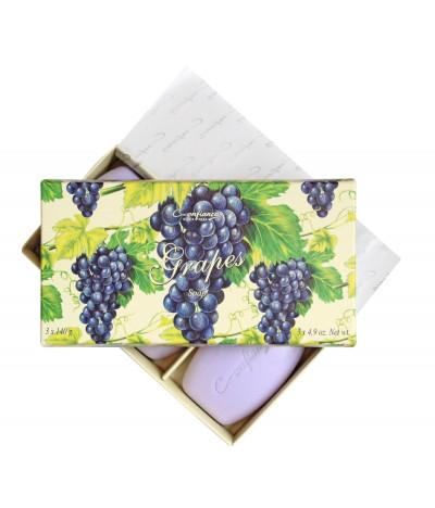 Caixa de Sabonetes UVAS Confiança 3 x 140gr