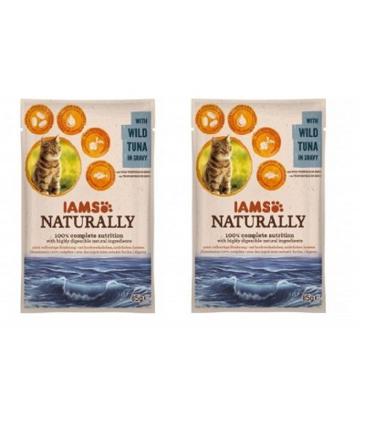 PACK 2 Iams Naturally de Atum para Gatos Adultos