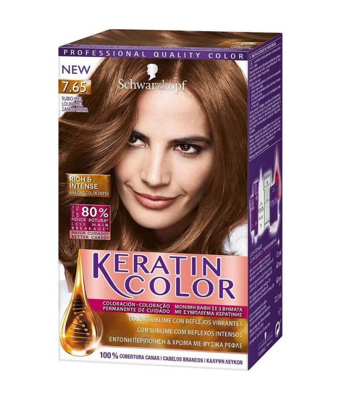 Schwarzkopf Keratin Color 7.65 Louro Mel 1un