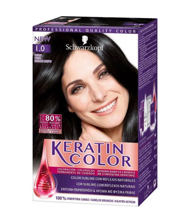 Schwarzkopf Keratin Color 1.0 Preto 1un