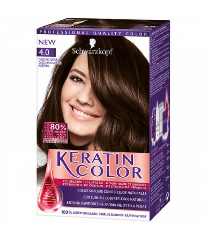 Schwarzkopf Keratin Color 4.0 Castanho 1un