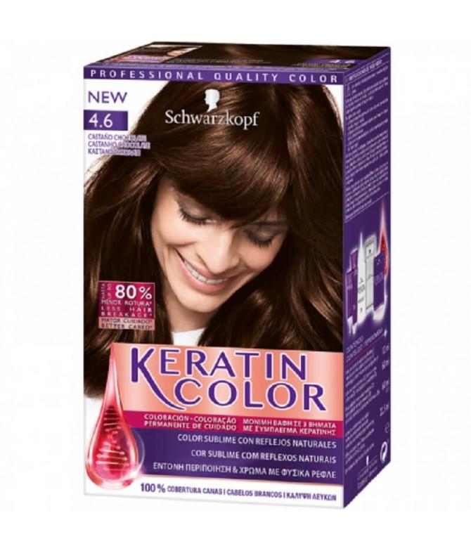 Schwarzkopf Keratin Color 4.6 Castanho Chocolate 1un