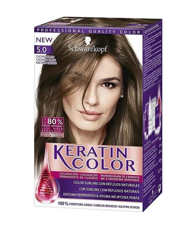 Schwarzkopf Keratin Color 5.0 Castanho Claro 1un