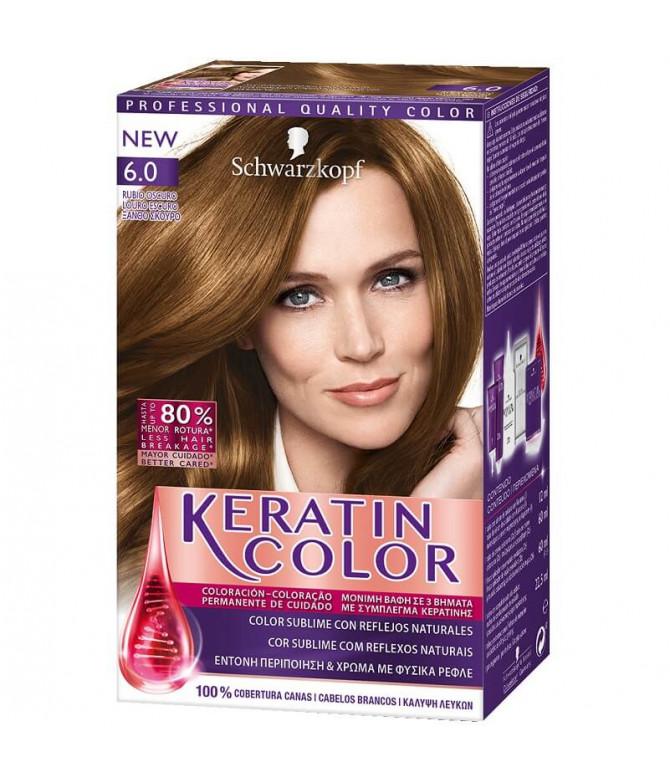 Schwarzkopf Keratin Color 6.0 Louro Escuro 1un