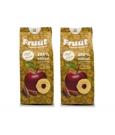 PACK 2 Fruut Snack Chips de Maçã 100% e Canela