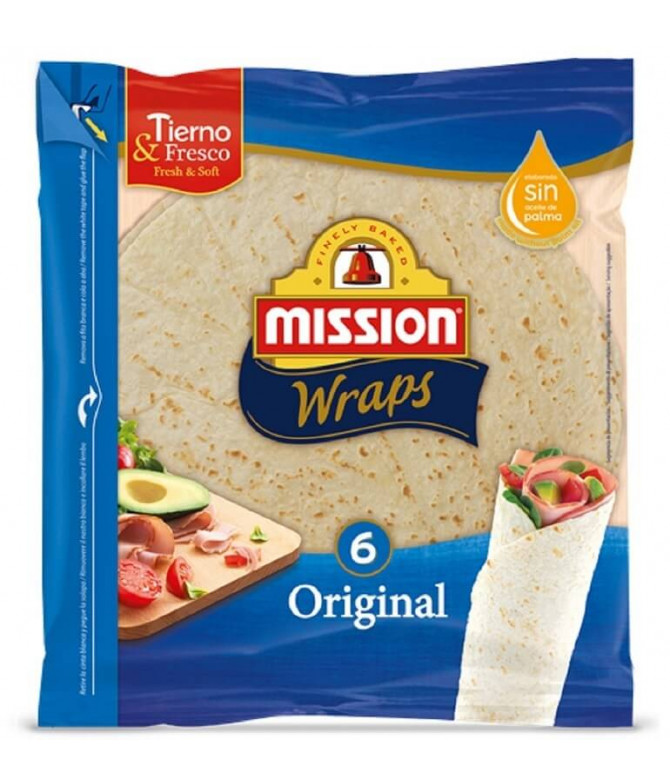 Mission Wrap Trigo Estilo Original 6un