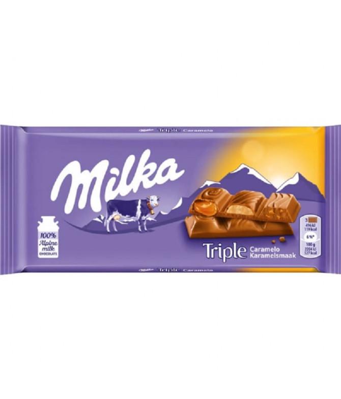 Milka Triple Chocolate Leche Caramelo 90gr T