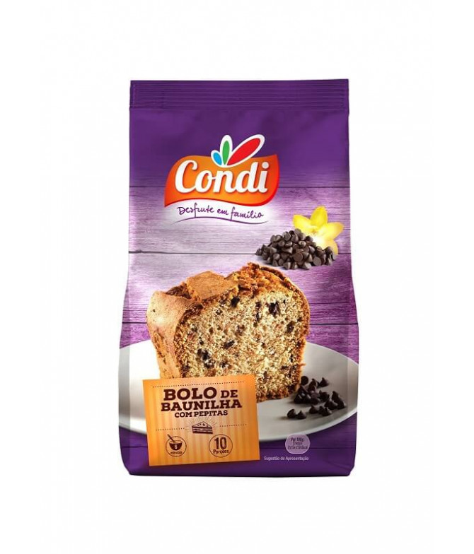 Condi Pastel Vainilla Pepitas Chocolate 400gr T