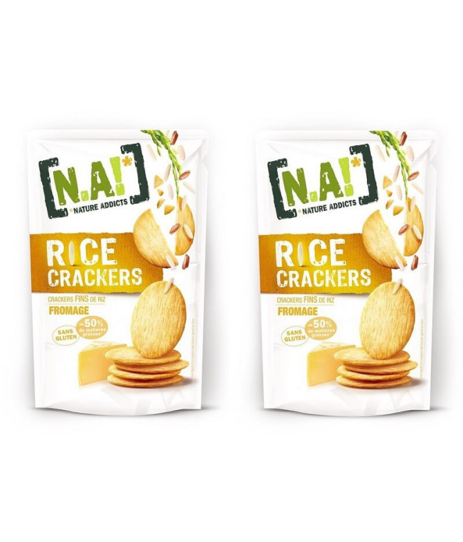 PACK 2 Nature Addicts Cracker Arroz & Queso 70gr T