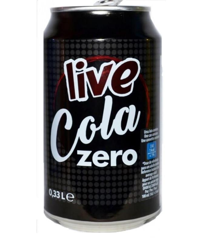 Live Cola Zero 33cl T