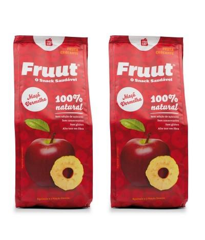 PACK 2 Fruut Snack Chips de Maçã Vermelha 100%
