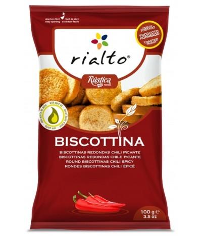 Biscottinas Redondas com Chili Picante Rialto 100gr