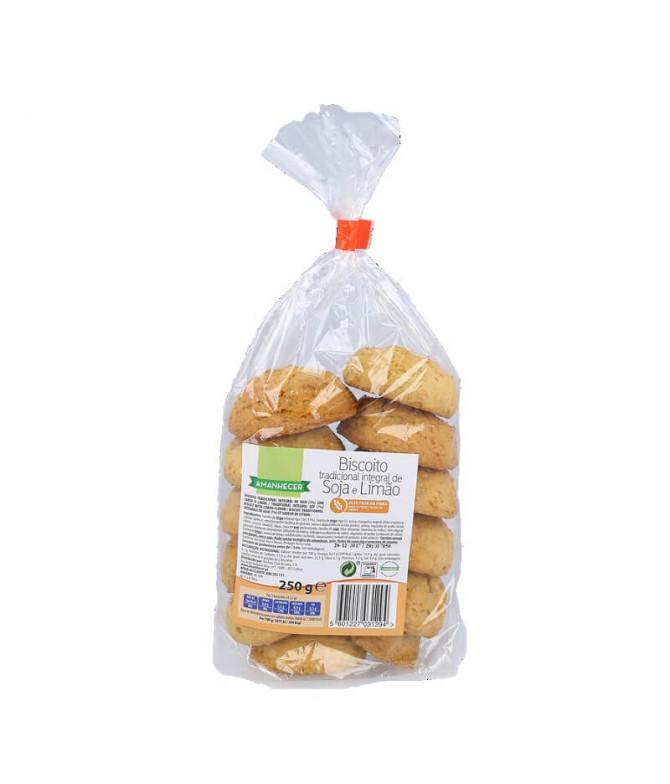 Amanhecer Biscoito Integral Soja Limão 250gr