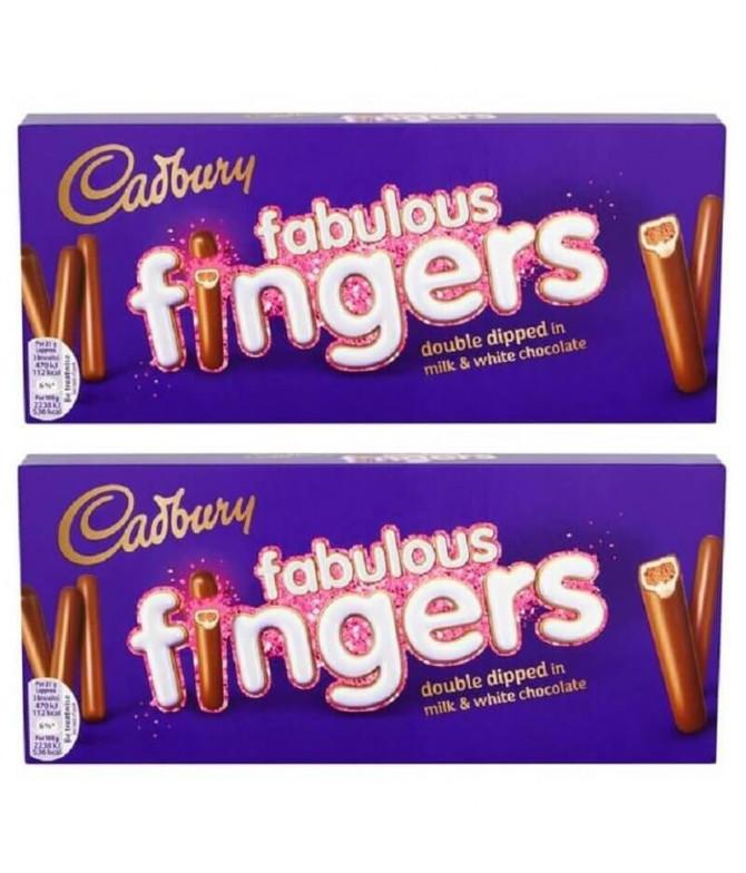 PACK 2 Cadbury Fabulous Fingers Bolacha 110gr
