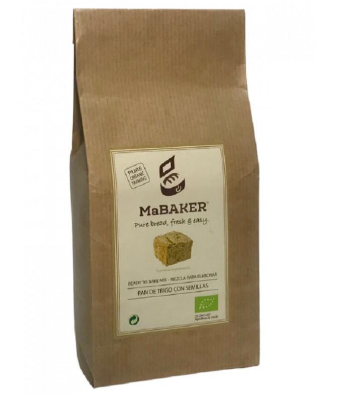 MaBAKER Mistura Pão Trigo Sementes BIO 500gr T