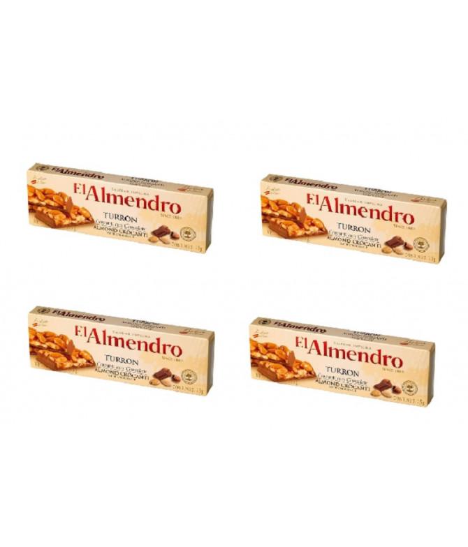 PACK 4 El Almendro Torrão Amêndoa Chocolate 75gr