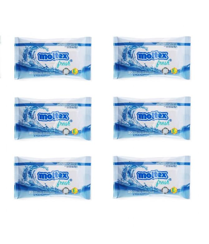 PACK 6 Moltex Toallita Refrescante 20un