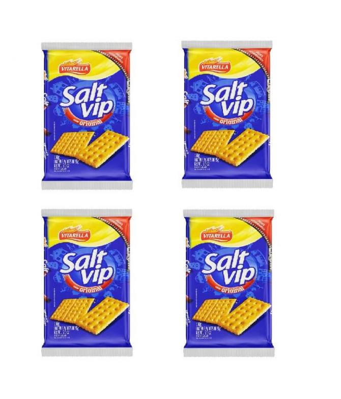 PACK 4 Vitarella Salt Vip Cracker 156gr T