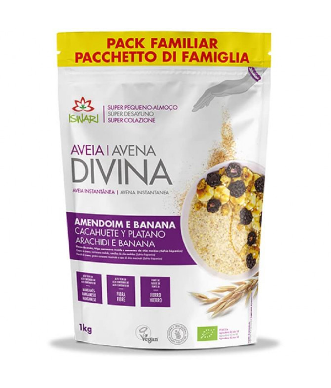Iswari Avena Divina Cacahuete Plátano BIO 1Kg T