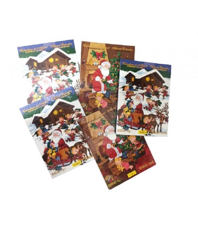 PACK 5 Jacquot Calendário Advento Natal Chocolate Leite 75gr