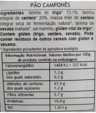 MaBAKER Farinha Pão Camponês BIO 500gr