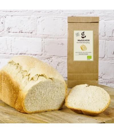 MaBAKER Farinha Pão Branco Rústico BIO 500gr