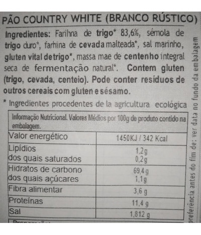 MaBAKER Harina Pan Blanco Rústico BIO 500gr T