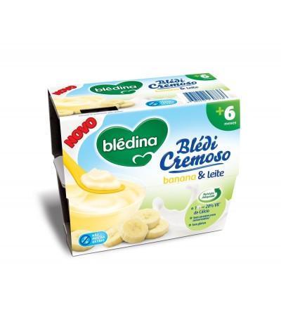 BlédiCremoso de Plátano & Leche SIN GLUTEN 4x100gr