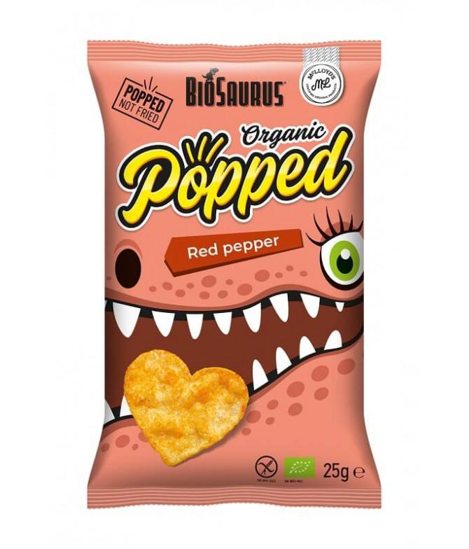 BioSaurus Chips Popped Paprika BIO 25gr T