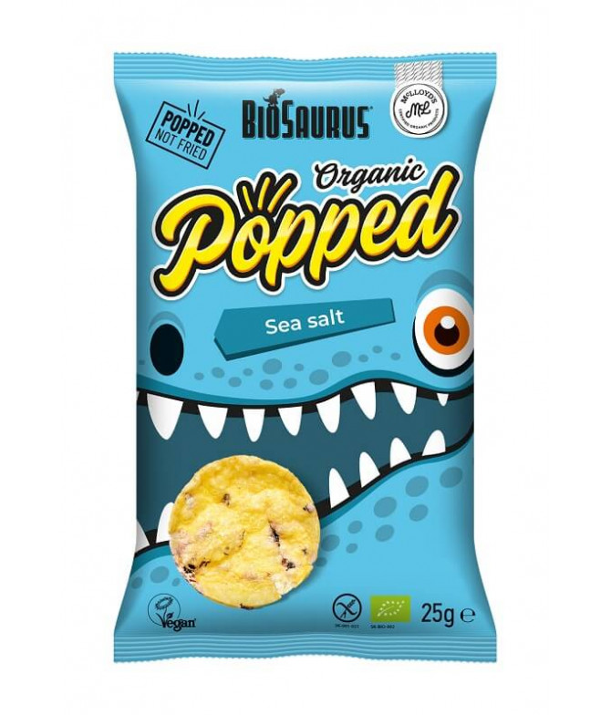 BioSauro Chips Popped Sal Marina BIO 25gr T