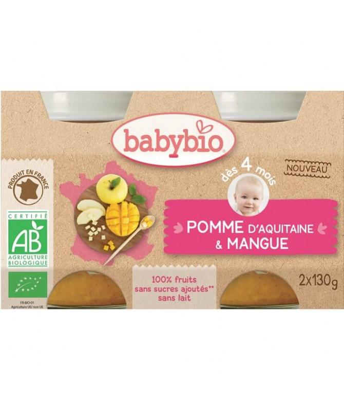 Babybio Boião Manzana Ciruela 2x130gr T