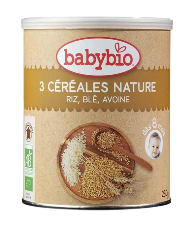 Babybio Papilla 3 Cereales 250gr T