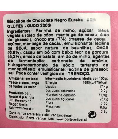 PACK 2 Güdo Biscoito Eureka Chocolate Preto 220gr