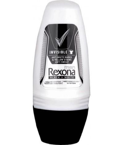 Rexona Desodorante Roll On Men Invisible Black & White 50ml