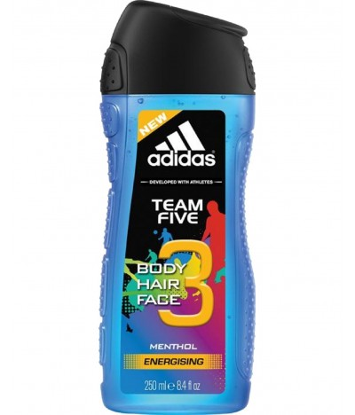 Adidas Gel de Baño Team Five 2 en 1 250ml