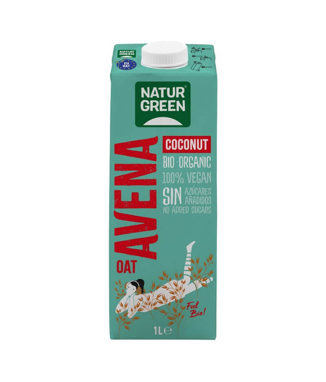 Naturgreen Bebida Aveia Coco  BIO 1L