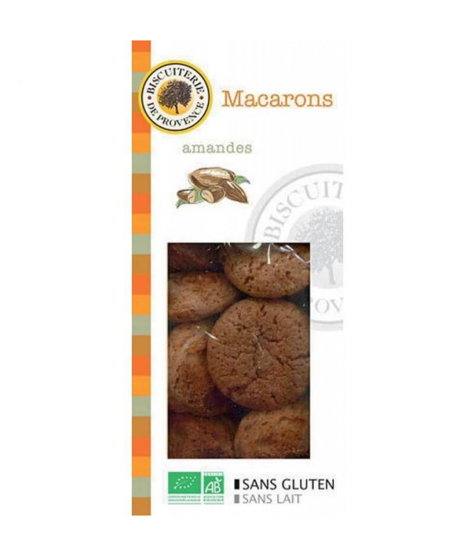 Biscuiterie de Provence Macarons Chocolate BIO 140gr