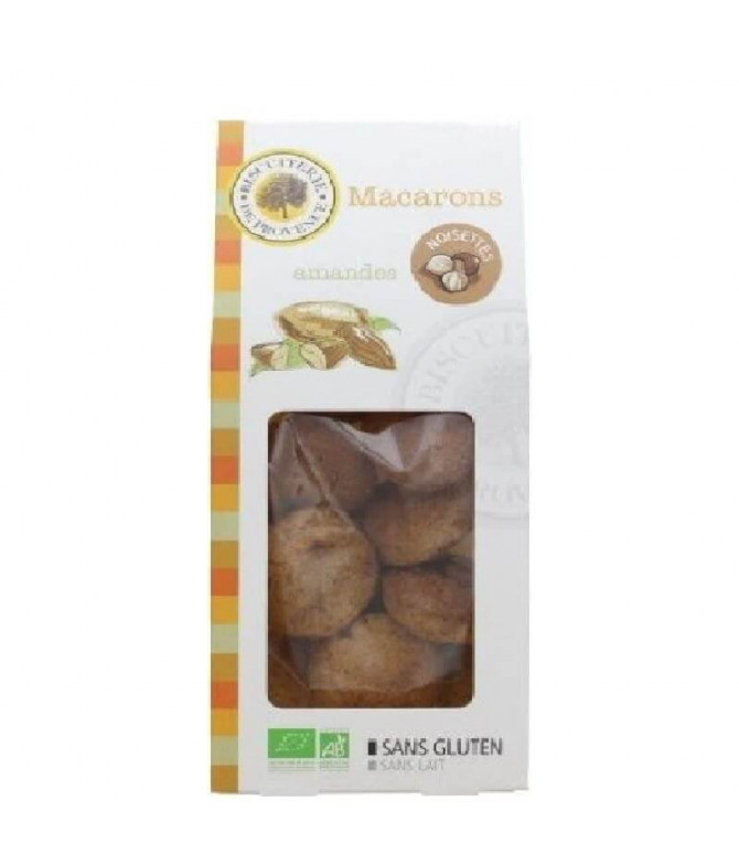 Biscuiterie de Provence Macarons Avelã BIO 140gr