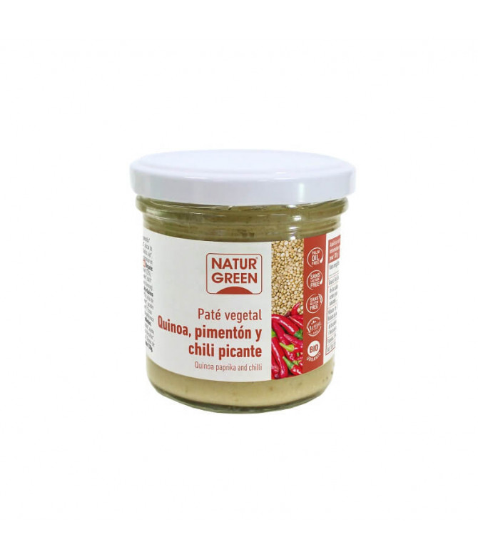 Naturgreen Patê Vegetal Quinoa Pimentão Chili BIO 130gr