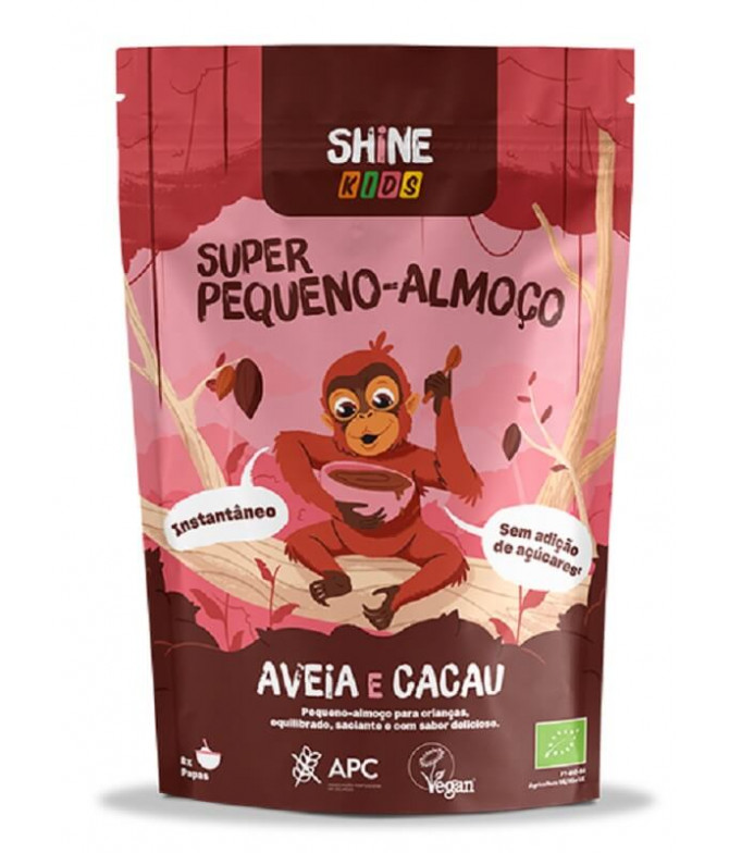Shine Super Pequeno-Almoço Kids Aveia Cacau BIO 300gr