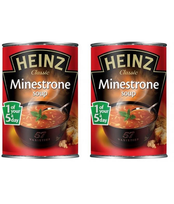 PACK 2 Sopa Minestrone Heinz 400gr