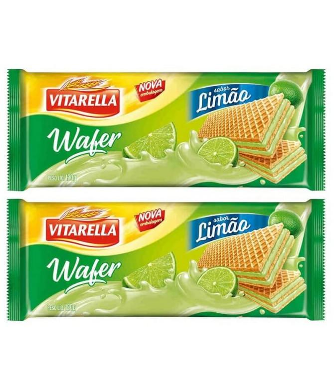 PACK 2 Vitarella Wafer Limão 120gr