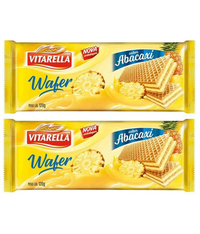 PACK 2 Vitarella Wafer Abacaxi 120gr