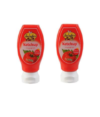 PACK 2 Salador Ketchup Top Down 250ml