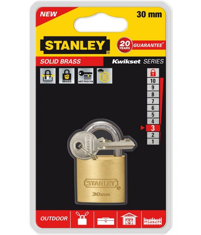Stanley Candado Sólido 30mm 1un T