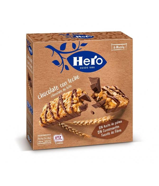Hero Barrita Chocolate Leite 6un